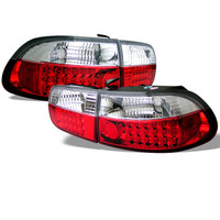 Honda Civic 92-95 2/4DR LED Tail Lights - Red Clear