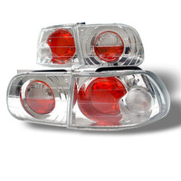 Honda Civic 92-95 3DR Euro Style Tail Lights - Chrome