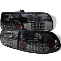 Spyder Honda Civic 92-95 3DR LED Tail Lights - Smoke