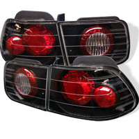 Honda Civic 96-00 2Dr Euro Style Tail Lights - Black