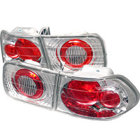 Honda Civic 96-00 2Dr Euro Style Tail Lights - Chrome