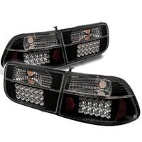 Honda Civic 96-00 2Dr LED Tail Lights - Black