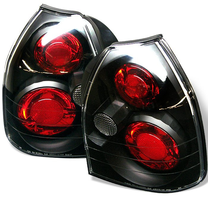 Honda Civic 96 00 3dr Euro Style Tail Lights Black