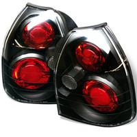 Honda Civic 96-00 3DR Euro Style Tail Lights - Black