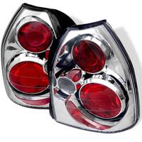 Honda Civic 96-00 3DR Euro Style Tail Lights - Chrome