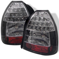 Honda Civic 96-00 3DR LED Tail Lights - Black