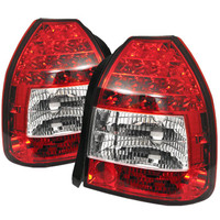 Honda Civic 96-00 3DR LED Tail Lights - Red Clear