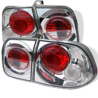 Honda Civic 96-98 4Dr Euro Style Tail Lights - Chrome
