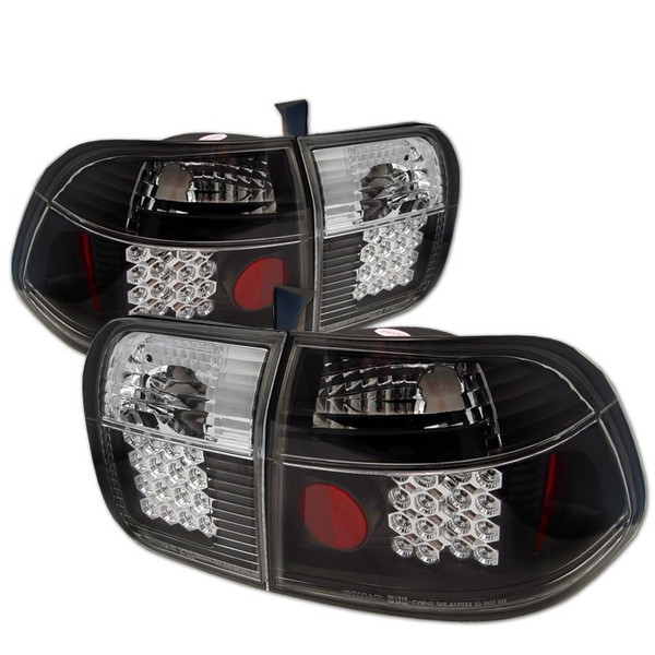 Honda Civic 96-98 4Dr LED Tail Lights - Black