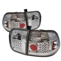 Honda Civic 96-98 4Dr LED Tail Lights - Chrome
