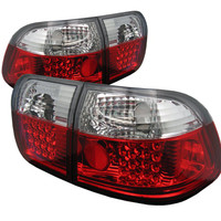 Honda Civic 96-98 4Dr LED Tail Lights - Red Clear
