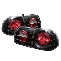 Honda Civic 99-00 4Dr Euro Style Tail Lights - Black