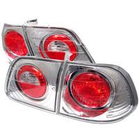 Honda Civic 99-00 4Dr Euro Style Tail Lights - Chrome
