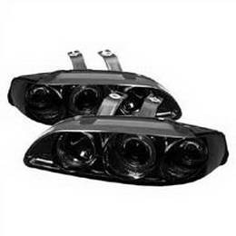 Spyder Honda Civic 92-95 4Dr 1PC Projector Headlights - LED Halo - Amber  Reflector - Smoke - High H1 - Low H1