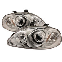 Honda Civic 96-98 Projector Headlights - CCFL Halo - Chrome  - High H1 - Low H1