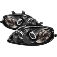 Honda Civic 99-00 Projector Headlights - CCFL Halo - Black - High H1 - Low H1