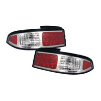 Nissan 240SX 95-98 LED Tail Lights - Chrome