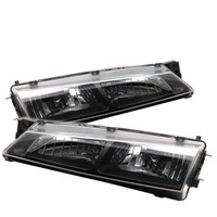 Nissan 240SX 97-98 Crystal Headlights - Black