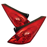 Nissan 350Z 03-05 LED Tail Lights - Red Clear