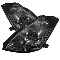Nissan 350Z 03-05 Projector Headlights - Halogen Model Only - DRL - Smoke