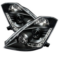 Nissan 350Z 03-05 Projector Headlights -  Xenon/HID Model Only - DRL - Black