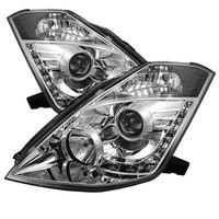 Nissan 350Z 03-05 Projector Headlights -  Xenon/HID Model Only - DRL - Chrome