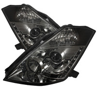 Nissan 350Z 03-05 Projector Headlights -  Xenon/HID Model Only- DRL - Smoke