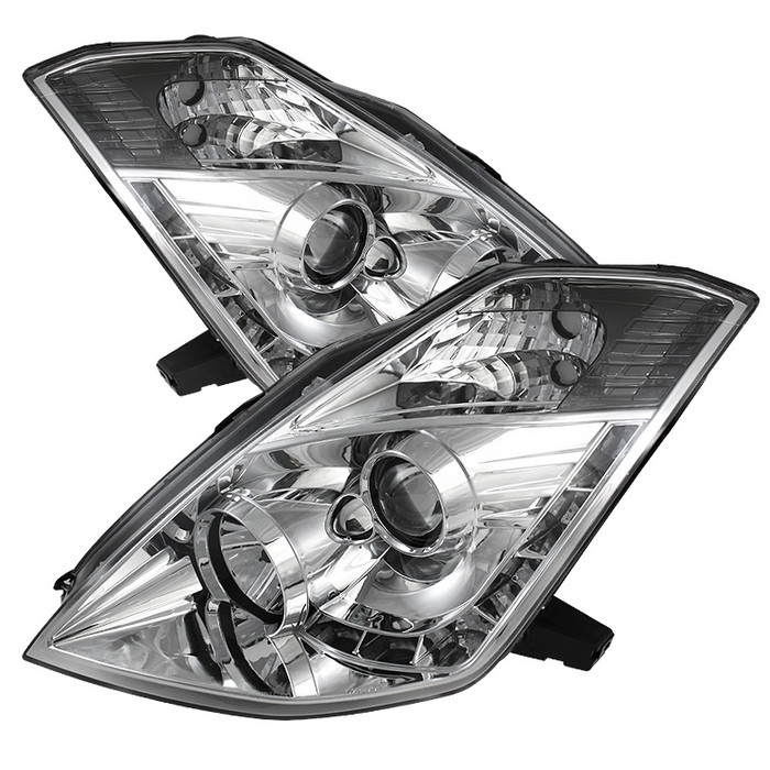 Spyder Nissan 350Z 06-08 Projector Headlights - Xenon/HID Model Only - DRL  - Chrome