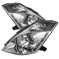 Nissan 350Z 06-08 Projector Headlights -  Xenon/HID Model Only - DRL - Chrome