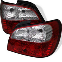 Subaru Impreza WRX / Sti 02-03 4Dr (Not Fit Wagon) LED Tail Lights - Red Clear