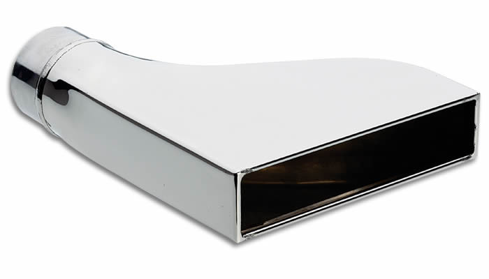 "Vibrant Performance Weld-On 7.75"" x 1.875"" Rectangular Stainless Steel Tip - 2.5""inlet"