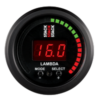 Stack Wideband Air-Fuel Ratio Gauge - 52mm (Black)