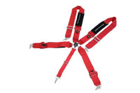 "Megan Racing 3"" 5-Point racing Harness (Red) - FIA Certified"