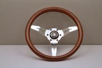 Nardi Deep Corn 330mm Steering Wheel - Wood Grain with Polished Spokes