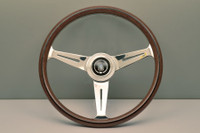 Nardi Classic 360mm Steering Wheel - Wood Grain with Polished Spokes
