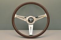 Nardi Classic 360mm Steering Wheel - Wood Grain with Polished Spokes