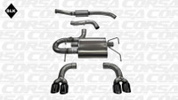 Corsa Cat-Back Exhaust - Black Tips - Subaru WRX / STI Hatchback 08-13