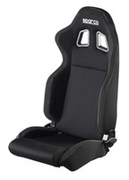 Sparco R100 Reclinable Racing Seat - Black (Vinyl)
