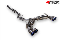 ARK Performance GRiP Burnt Tip Exhaust - Subaru WRX / STI Hatchback  08-14
