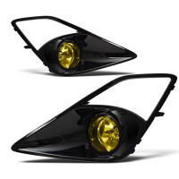 Winjet Fog Lights  (Glossy Black / Yellow) - Scion FR-S / Subaru BRZ