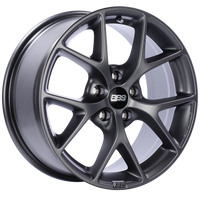 BBS SR 17x8 5x112 ET42 Satin Grey Wheel -82mm PFS/Clip Required