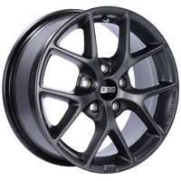 BBS SR 16x7 5x112 ET48 Satin Grey Wheel -82mm PFS/Clip Required