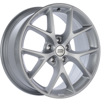 BBS SR 18x8 5x112 ET45 Sport Silver Wheel -82mm PFS/Clip Required