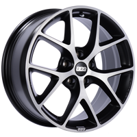BBS SR 18x8 5x114.3 ET40 Satin Black Diamond Cut Face Wheel -82mm PFS/Clip Required