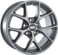 BBS SR 17x7.5 5x100 ET48 Satin Grey Wheel -70mm PFS/Clip Required