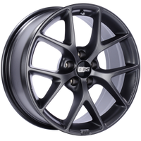 BBS SR 18x8 5x112 ET21 CB66.5 Satin Grey Wheel