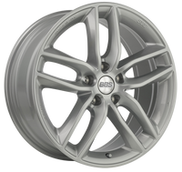 BBS SX 17x7.5 5x112 ET35 Sport Silver Wheel -82mm PFS/Clip Required