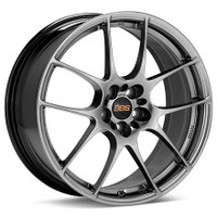 BBS RF 18x8 5x114.3 ET43 Diamond Black Wheel -82mm PFS/Clip Required