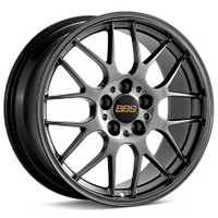 BBS RG-R 17x9.5 5x114.3 ET38 Diamond Black Wheel -82mm PFS/Clip Required