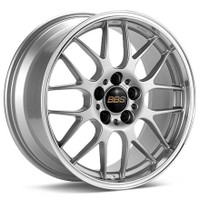 BBS RG-R 19x9.5 5x114.3 ET22 Sport Silver Polished Lip Wheel -82mm PFS/Clip Required